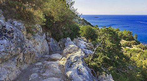 Тропа Афродиты. Треккинг на Кипре. Остров Кипр. Легкий треккинг