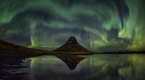 Автотур по Исландии. Исландия на машине. Северное сияние Исландия. Киркьюфетль