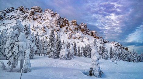 Таганай Зимний поход по Южному Уралу. Откликной Гребень